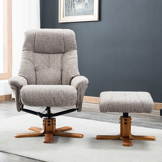Dox Fabric Swivel Recliner Chair In Lisbon Mocha_6