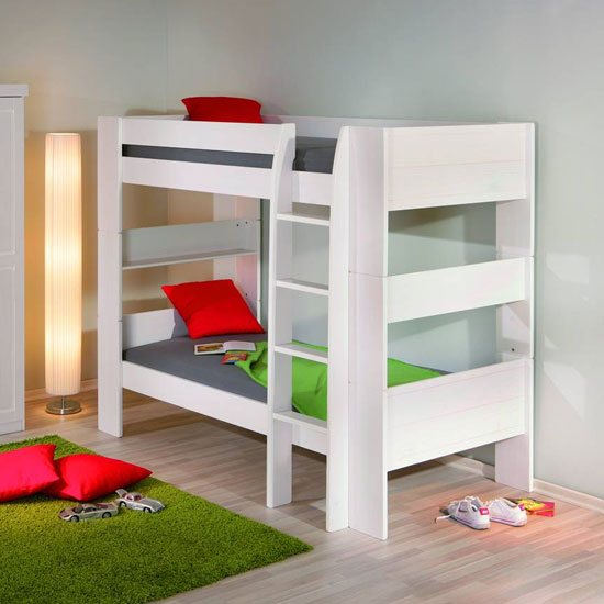 Dream Well 3 Wooden Bunk Bed In White