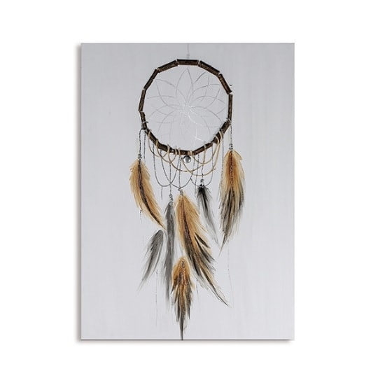 Dream catcher rectangular canvas oil painting 32968 for Dream catcher spray painting