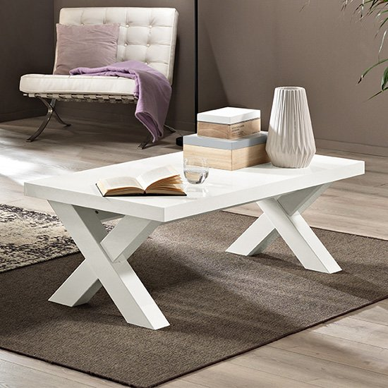 View Drent wooden coffee table in white