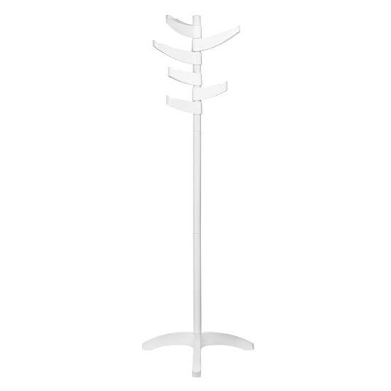 Drepas Plastic Coat Stand With White Metal Base