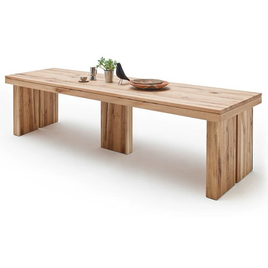Dublin 400cm Wooden Dining Table in Solid Wild Oak