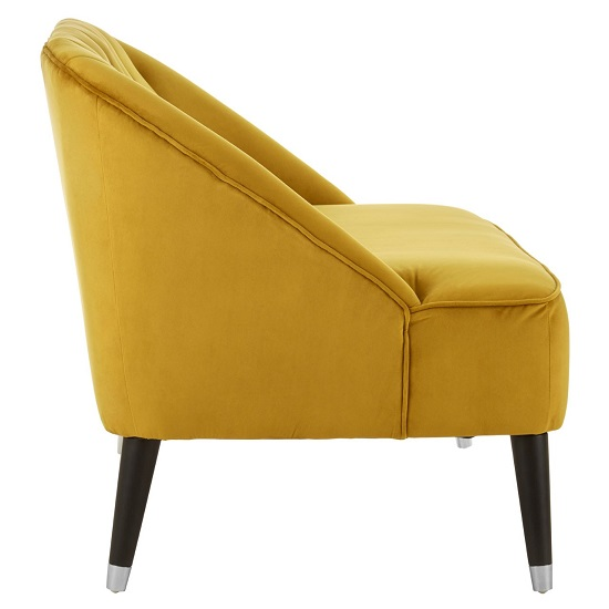 Cocibolca Velvet Upholstered Two Seater Sofa In Yellow Finish   _3