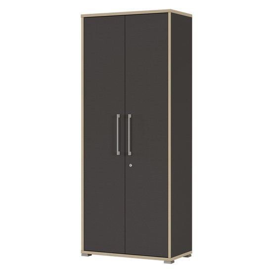 View Duo wooden 2 doors home and office filing cabinet in anthracite