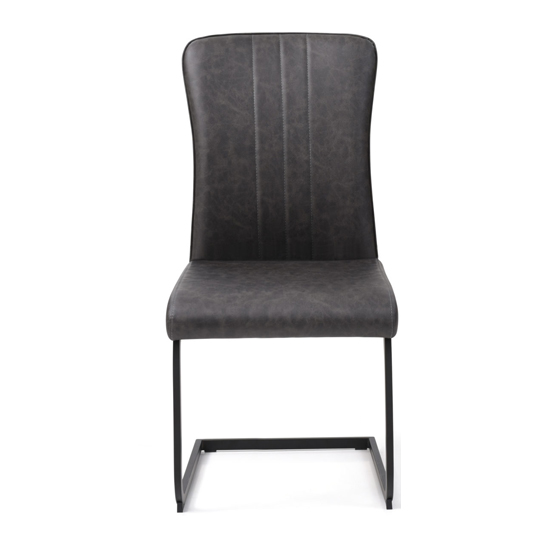 Duplex PU Dining Chair In Antique Grey