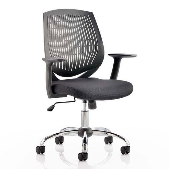 Dura Task Office Chair In Black With Arms