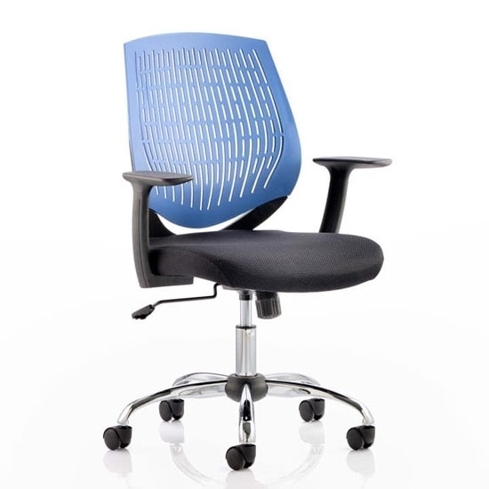 Dura Task Office Chair In Blue With Arms