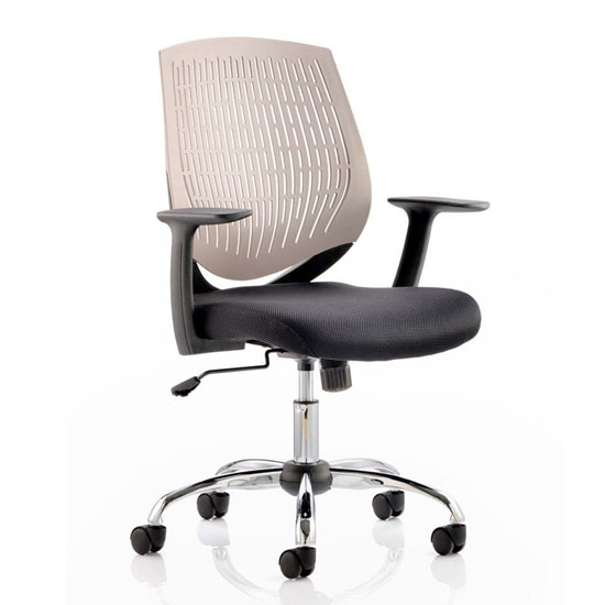 Dura Task Office Chair In Grey With Arms