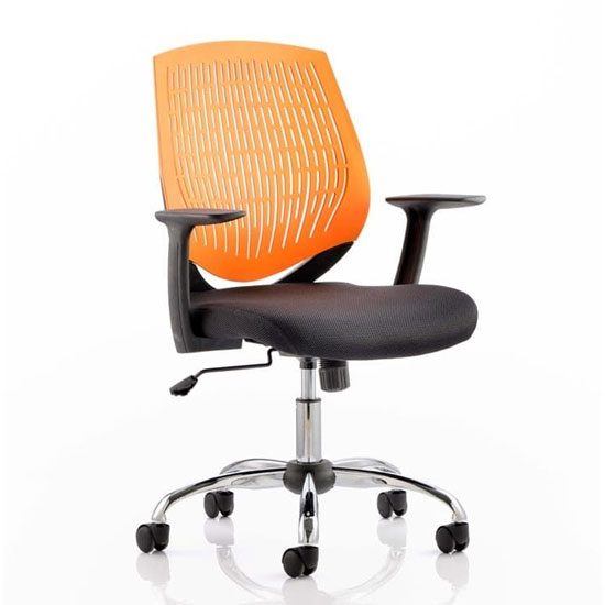 Dura Task Office Chair In Orange With Arms