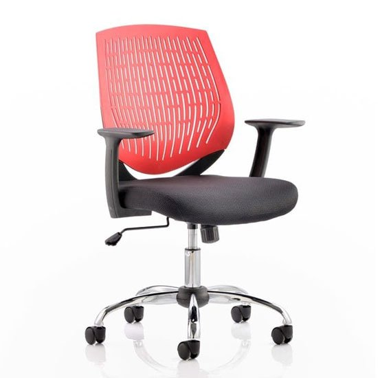 Dura Task Office Chair In Red With Arms
