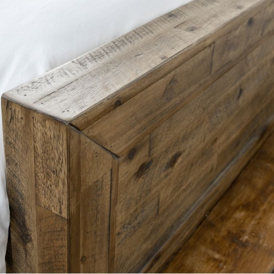 Durket Wooden Solid Acacia Bed In Rustic Oak Finish_5