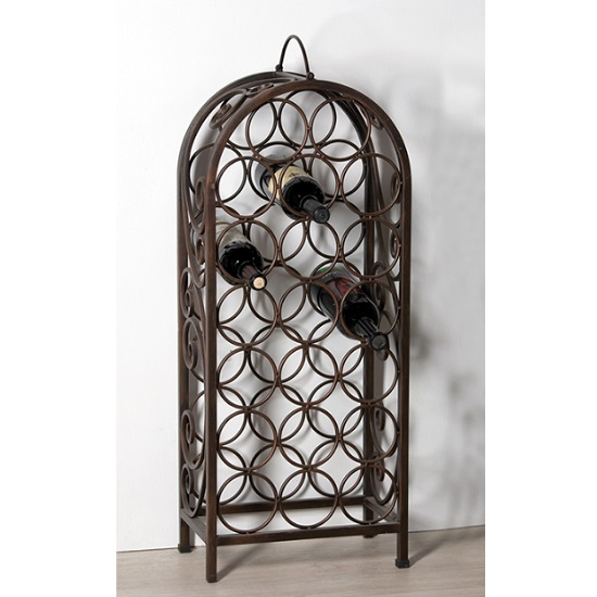 Read more about Duro stylish wine rack in rustic brown metal