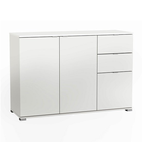 Dylan Wooden Sideboard In Pearl White
