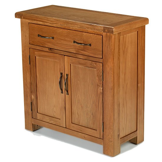 Earls Wooden Small Sideboard In Chunky Solid Oak_1