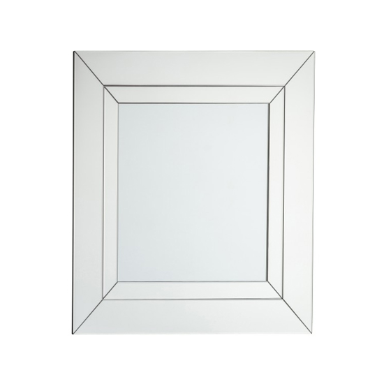Eastfield Square Wall Bedroom Mirror In Silver
