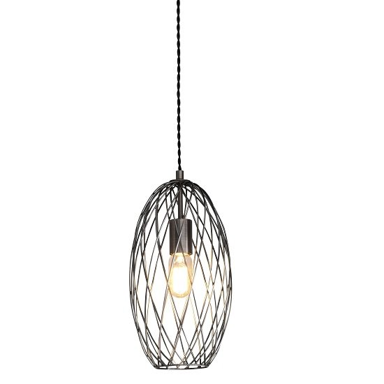Eastmoor Pendant Light With Black Twisted Cable