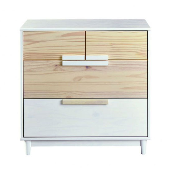 Ebbo FSC Wooden Chest Of Drawers In Urban White With 4 Drawers