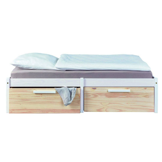 Ebbo FSC Wooden Functional Single Bed In Urban White_2