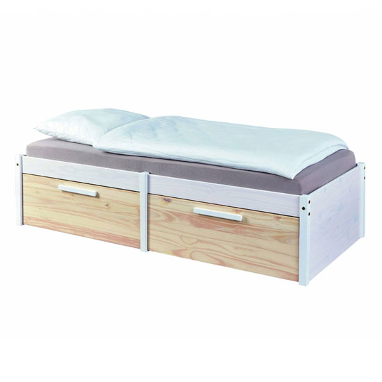 Ebbo FSC Wooden Functional Single Bed In Urban White