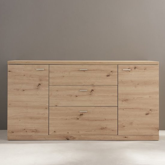 Echo Sideboard In Artisan Oak With 2 Doors And 3 Drawers_2