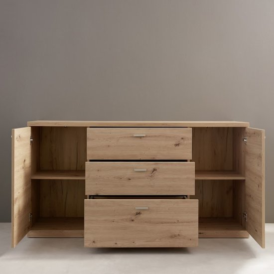 Echo Sideboard In Artisan Oak With 2 Doors And 3 Drawers_3