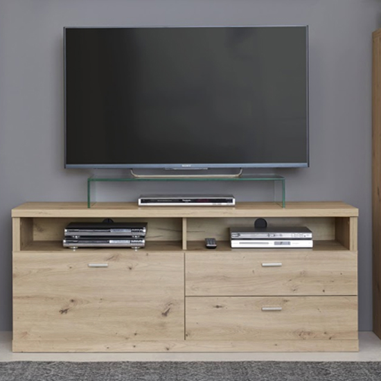 Echo TV Stand In Artisan Oak With 1 Door And 2 Drawers