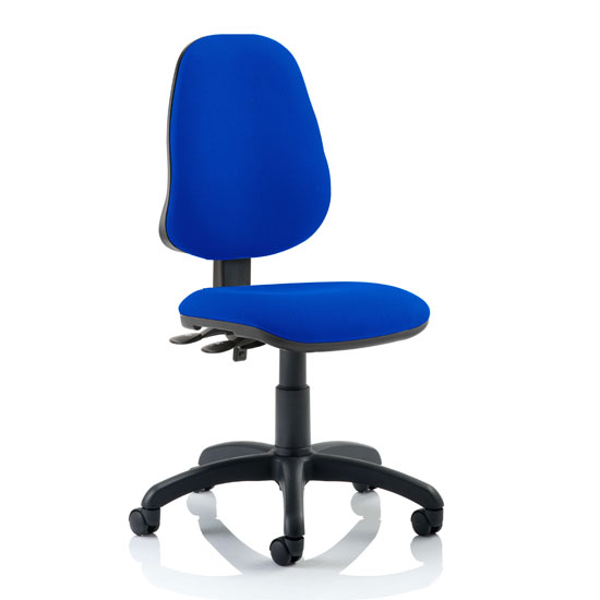 Eclipse Plus II Fabric Office Chair In Blue No Arms