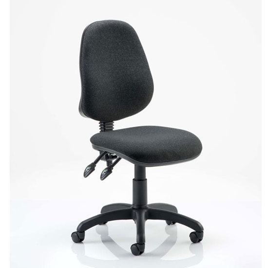 Eclipse Plus II Fabric Office Chair In Charcoal No Arms
