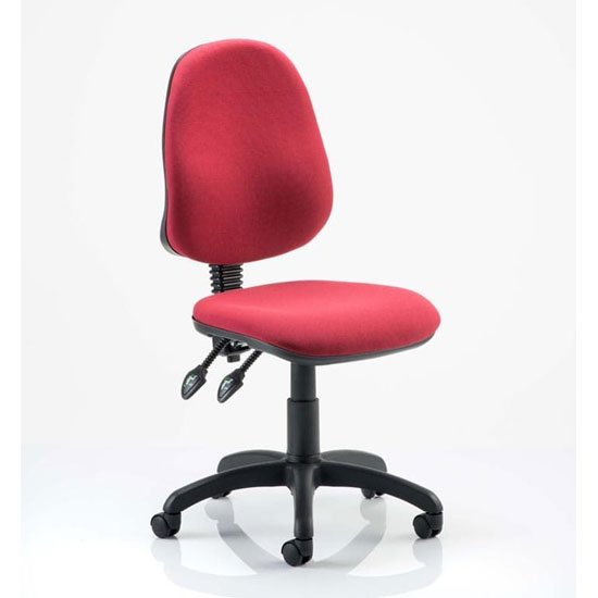 Eclipse Plus II Fabric Office Chair In Wine No Arms_1