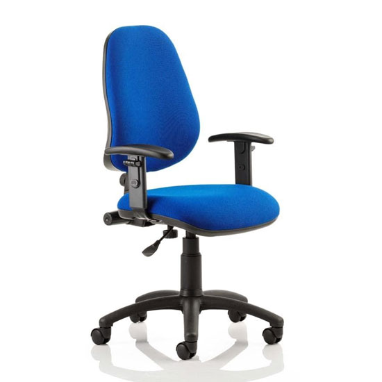 Eclipse Plus I Office Chair In Blue With Adjustable Arms