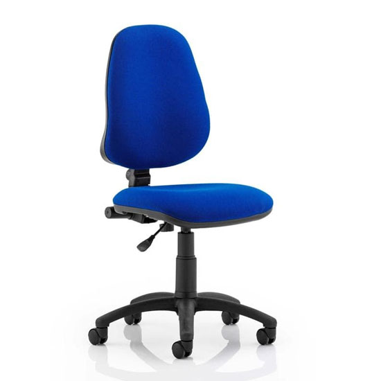 Eclipse Plus I Office Chair In Blue No Arms