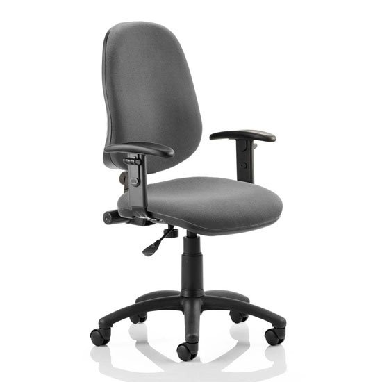 Eclipse Plus I Office Chair In Charcoal With Adjustable Arms