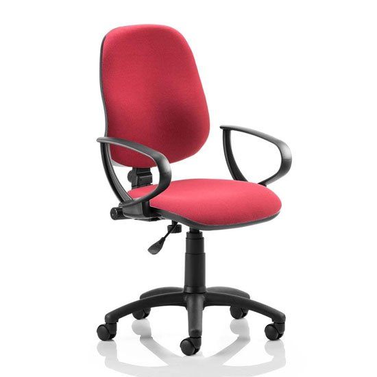 Eclipse Plus I Office Chair In Wine With Loop Arms