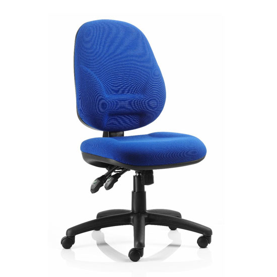 Eclipse Plus XL Office Chair In Blue No Arms_1