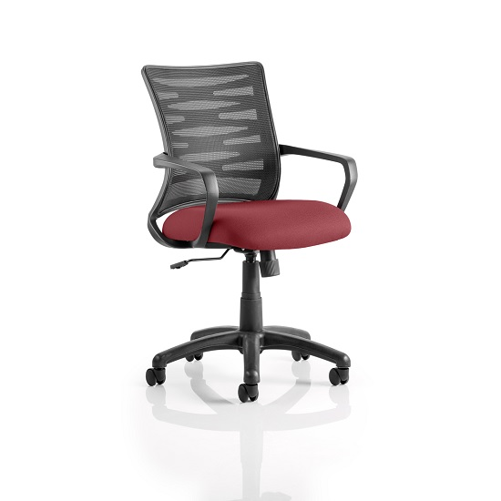 Eclipse Home Office Chair In Chilli With Castors