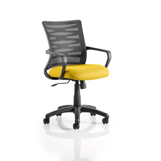 Eclipse Home Office Chair In Yellow With Castors