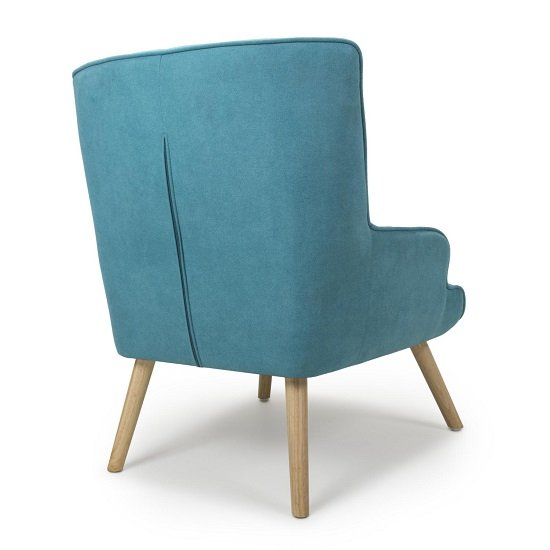 Eden Fabric Armchair In Chenille Effect Turquoise Blue_2