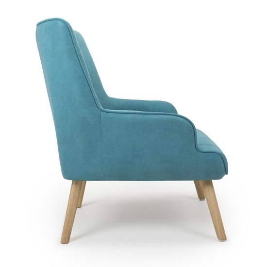 Eden Fabric Armchair In Chenille Effect Turquoise Blue_3
