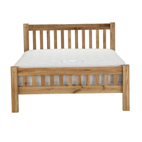 Edinburgh Contemporary Wooden Bed In White Oak 27805