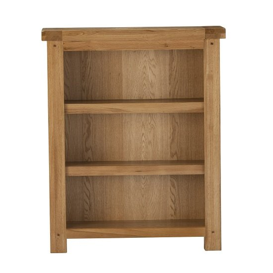 Edinburgh Wooden Small Bookcase In White Oak 27815