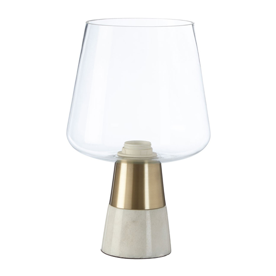 Edisot Glass Shade Table Lamp With Brass Base