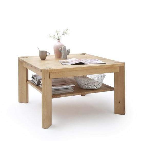 View Egbert wooden coffee table square in beech heartwood