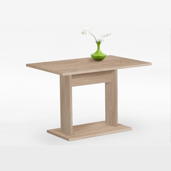 Eiffel 2 Wooden Dining Table Rectangular In Oak Tree