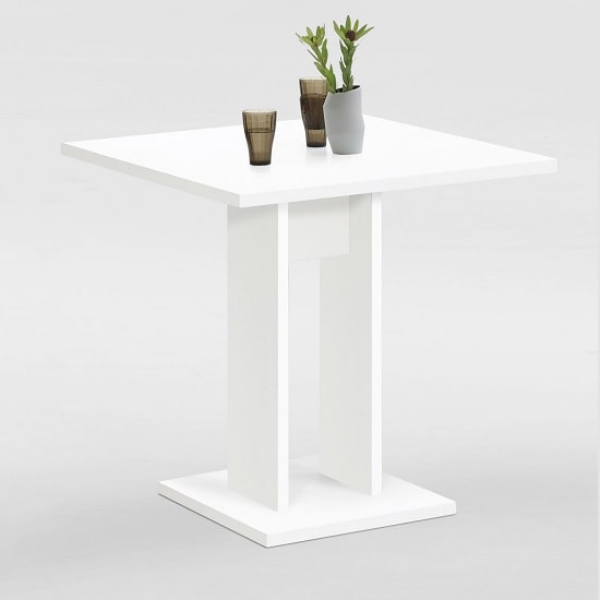 Eiffel Wooden Dining Table Square In White