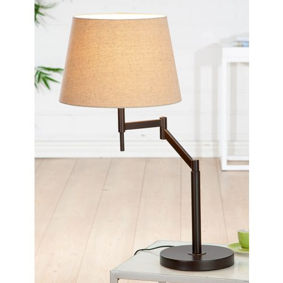 Elastico Table Lamp In Brown And Beige