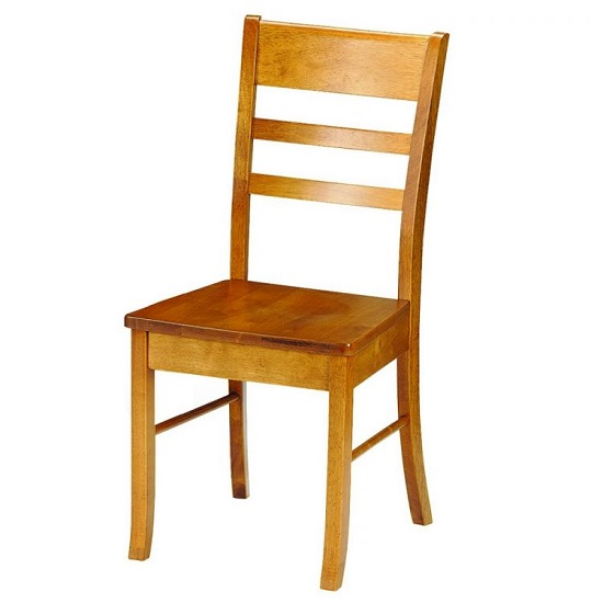 Elbeni Wooden Dining Chair In Honey Pine Lacquer Finish