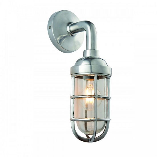 Elcot Wall Light In Polished Aluminium Finish