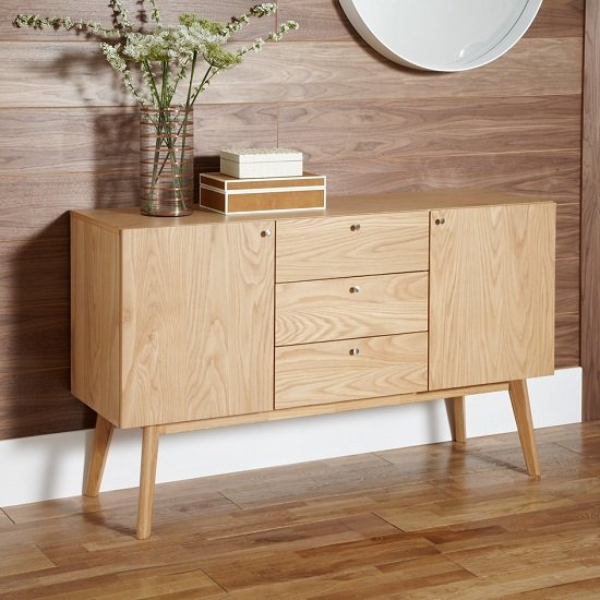 Eleanor Wooden Sideboard Large In Oak
