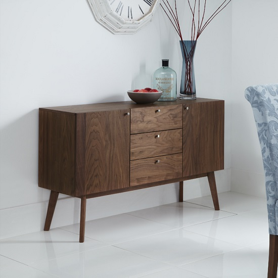 Eleanor Wooden Sideboard Large In Walnut