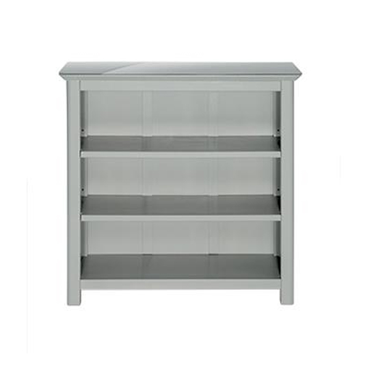 Elgin Low Bookcase In Grey With Adjustable Shelves